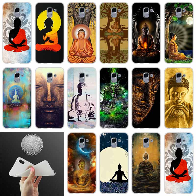 silicone Phone case Cover Zen Buddha style FOR Coque Samsung Galaxy J6 J4 J8 J7 2018 Plus J3 J5 J7 Prime Pro 2017 2016 Casse