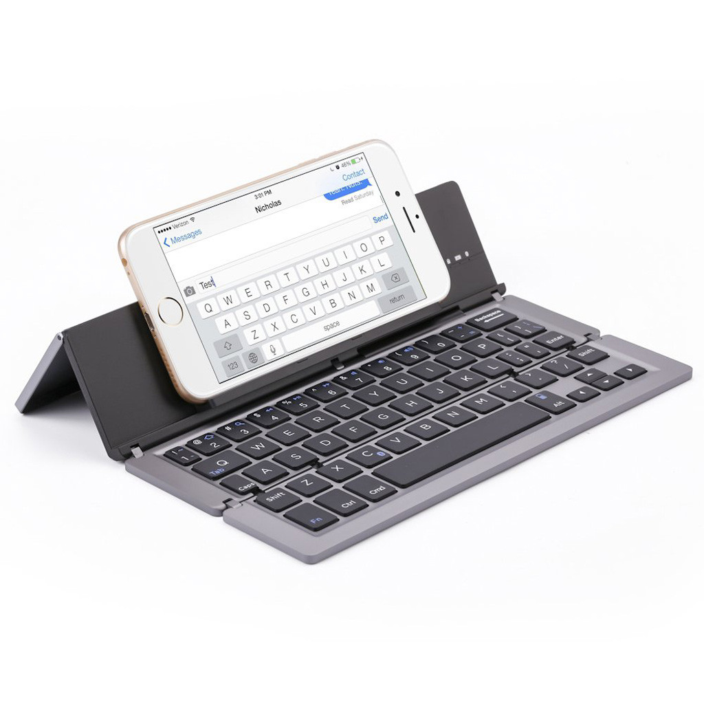 Image 5 - A0538 1 Portable Mini Folding Keyboard, Traval Bluetooth Foldable Wireless Keypad for iphone,Android phone,Tablet,ipad,PC-in Keyboards from Computer & Office