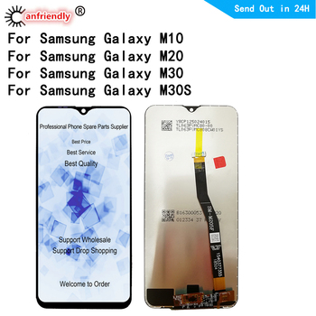 For SAMSUNG GALAXY M10 M20 M30 M30S LCD Display Touch Screen Digitizer frame Assembly For SAMSUNG M105 M205 M305 M307 LCD Screen цена 2017