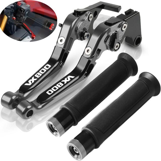 For Suzuki VX800 1990 1991 1992 1993 1994 1996 Motorcycle Adjustable Folding Extendable Brake Clutch Levers Handlebar Hand Grips