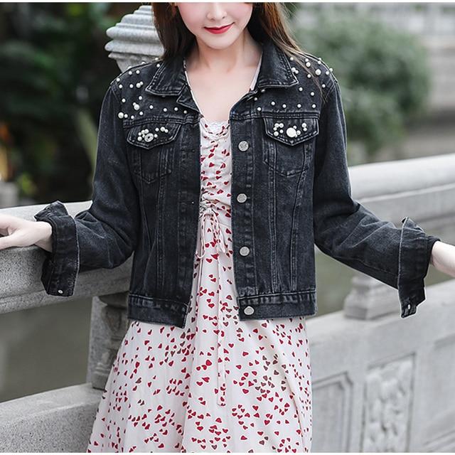 Beading Short Denim Jackets For Women  4