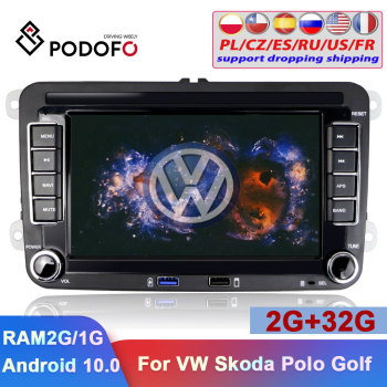 Podofo 2Din Car Radio Android Car GPS Multimedia Player 7'' Autoradio For VW Volkswagen Skoda Seat Polo Passat Tiguan Car Stereo image