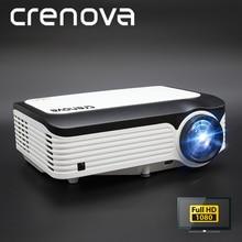 CRENOVA новейший видеопроектор с разрешением Full HD 1080p для домашнего кинотеатра Android проектор с Android 7.1.2