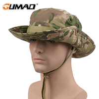 Camouflage Outdoor Fishing Cap Sunscreen Sun Visors Bucket Hat Camping Military Army Airsoft Tactical Bob Wide Brim Bonnie Men|Fishing Caps| |  -