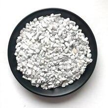 100g pedra natural mineral cristal branco turquesa cascalho de quartzo cura diy material aquário pedra decoração para casa artesanato