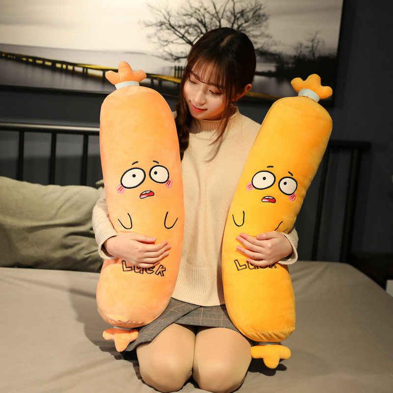 Lifelike Sausage Plush Toys Stuffed Long Sleeping Pillow Food Plush Dolls Gift
