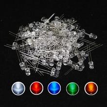 500 adet/grup 20Ma F5 5MM uzun kurşun şeffaf Ultra parlak beyaz LED diyot kiti 5 renkler kırmızı beyaz sarı yeşil mavi