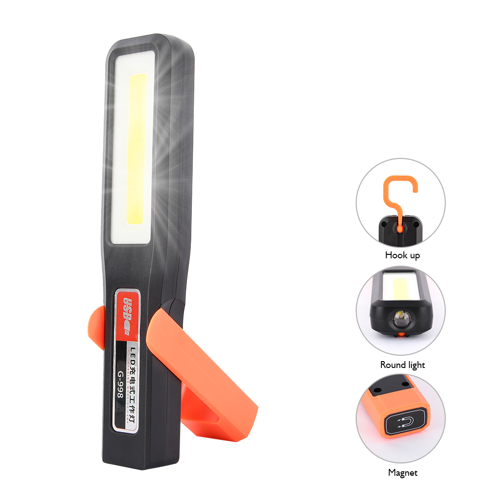 10W LED COB Rechargeable Work Light Outdoor Waterproof Camping Lamp Flexible Magnetic Emergency Inspection Lamp