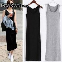 Женское платье-комбинация с пышной юбкой, женское платье-комбинация, длинное платье-комбинация, прямое нижнее платье, однотонная Нижняя юбка