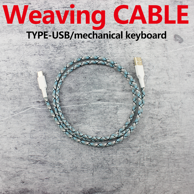 Weaving Cable Wire Mechanical Keyboard GH60 USB Cable Type-c USB For Poker 2 GH60 Xd64 Xd84 Xd96 Tada68 Keyboard Kit DIY 1m