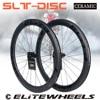 ELITEWHEELS SLT 도로 디스크 탄소 바퀴 세라믹 베어링 센터 잠금 허브 24-24H 디스크 브레이크 림 Cyclocross Road Cycling Wheelset