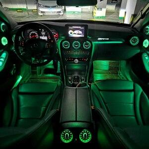 Для Mercedes-benz C class светодиодный турбинный воздушный вентиляционный декоративный автомобильный светильник W205 поворотный твитер вентиляционн...