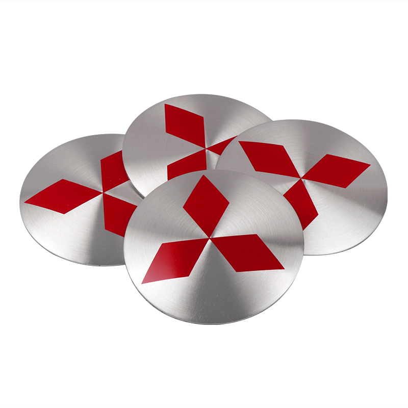 4PCS Car Wheel Center Hub Caps Cover Rim Sticker Badge For Lancer Asx Outlander Pajero L200 Mitsubishi Galant Car Accessories