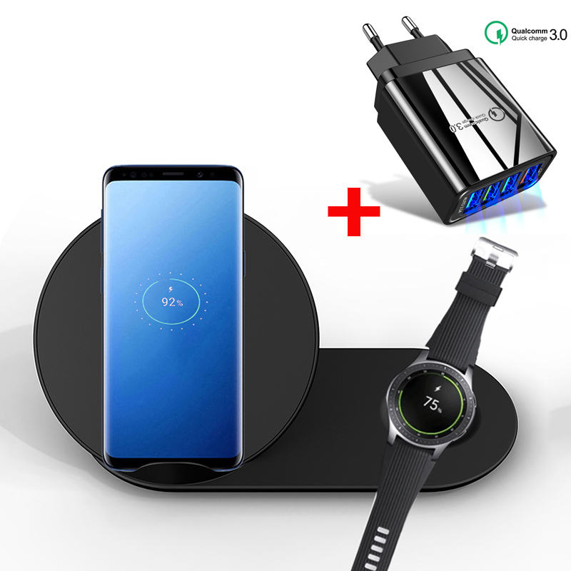 Qi Fast Wireless Charger For iPhone 11 X 8 Wireless Charging Pad For Samsung Gear S2 S3 Fast Charge for Samsung galaxy S9 S8|Mobile Phone Chargers| |  - title=