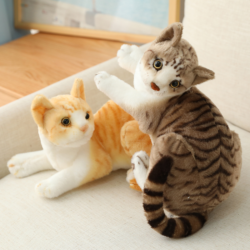 26/30/40cm Cute Real Life Plush Cats Doll Stuffed Lying Cat Plush Toys for Children Baby Doll Kids Birthday Gift Home Decoration|Stuffed & Plush Animals| - AliExpress