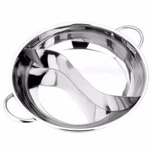Stainless Steel Hot Pot Kitchen Soup Stock Pot Cookware For Induction Cookers Cooking Pot Mandarin Duck Pot 7l 18 5l stainless steel deep casserole soup pot with glass lid and induction bottom
