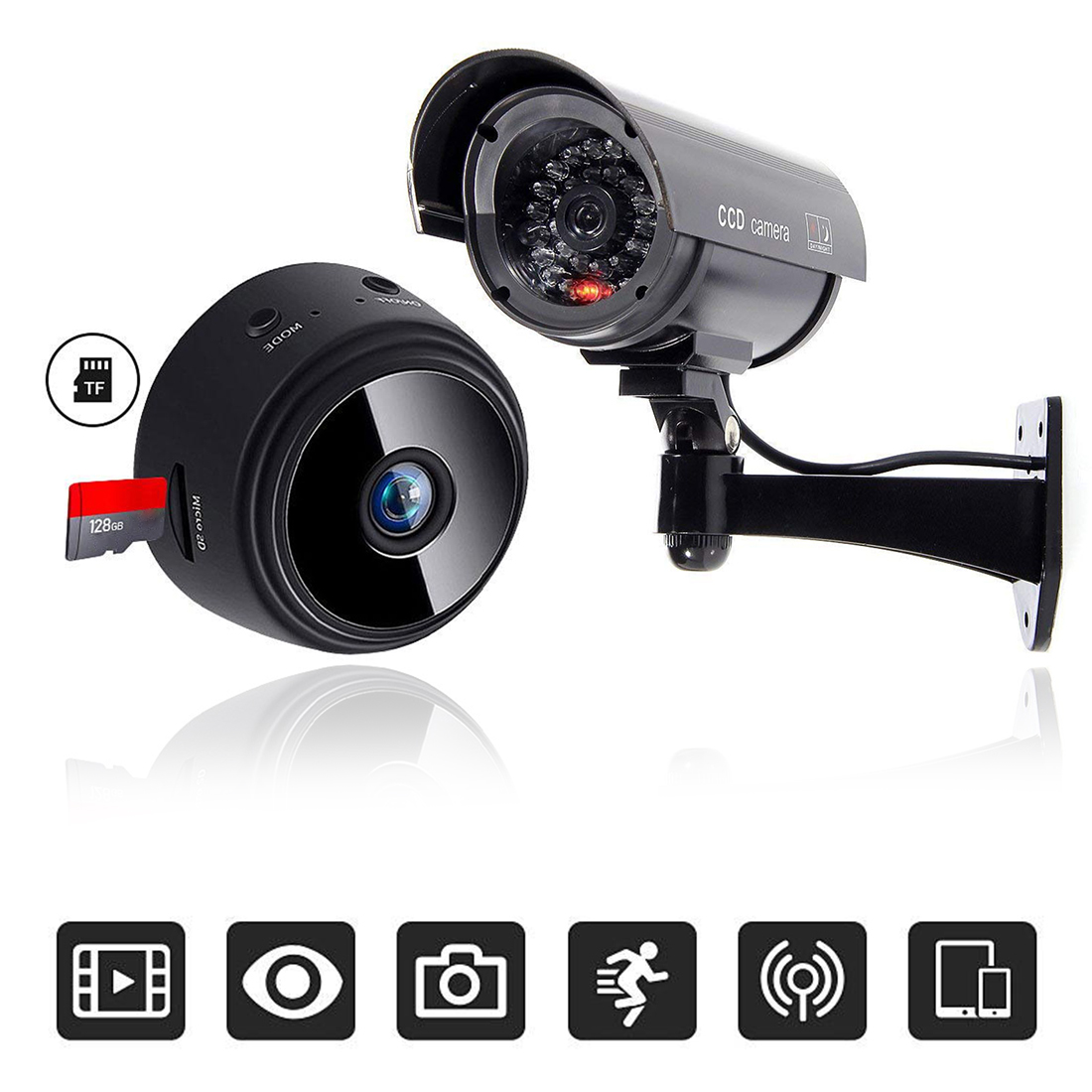 A9 1080P Wifi Mini Camera HD Night Vision Camera Home Security ,Dummy Camera Surveillance Wireless ,TF Card