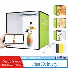 USB Light Box Mini Foldable Photo Studio Box Photography LED 30cm Lightbox Studio Shooting Tent Box kit 6 Color Backdrops