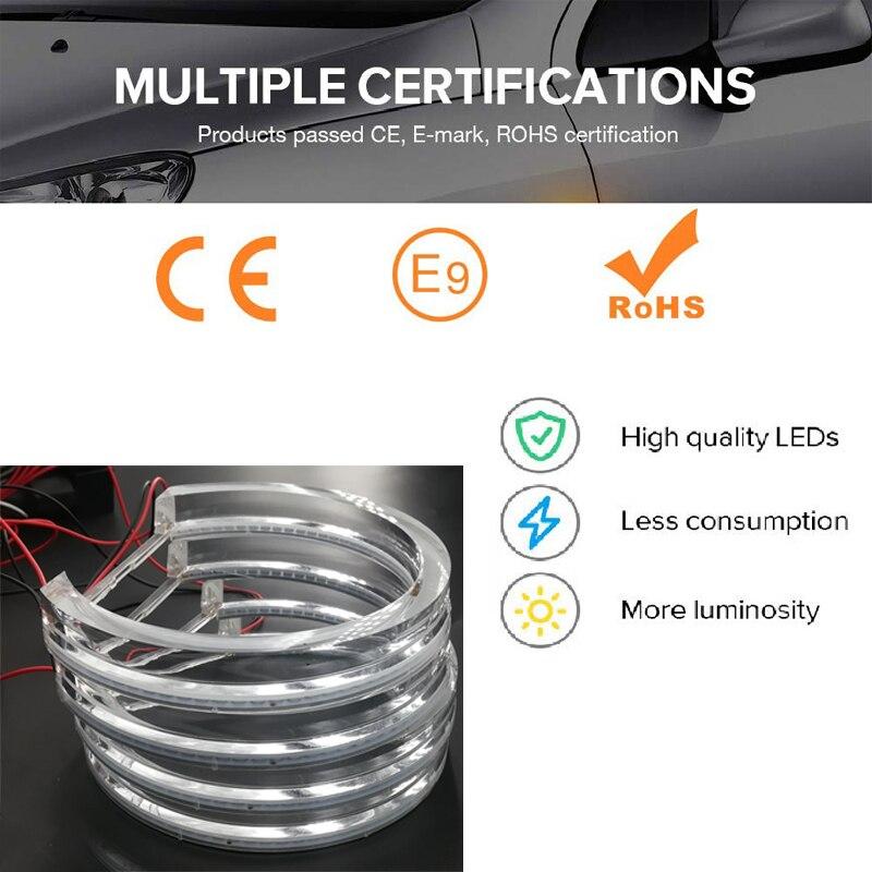 luzes dtm estilo para bmw 3 e46 05