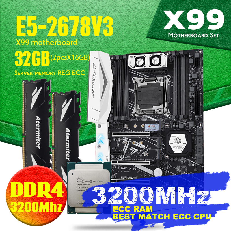 X99 TF motherboard DDR4 and DDR3 LGA2011 3 and LGA 2011 Intel Xeon E5 2678 V3 8GB X 4PCS = 32GB 2666MHz Memory Motherboard Set|Motherboards| - AliExpress