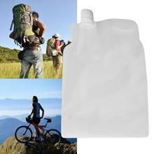 Пластиковые мешки для воды складная бутылка питьевой кемпинг сумка для езды на велосипеде, бега мешочек pe открытый Портативный Пеший туризм мешок воды складной