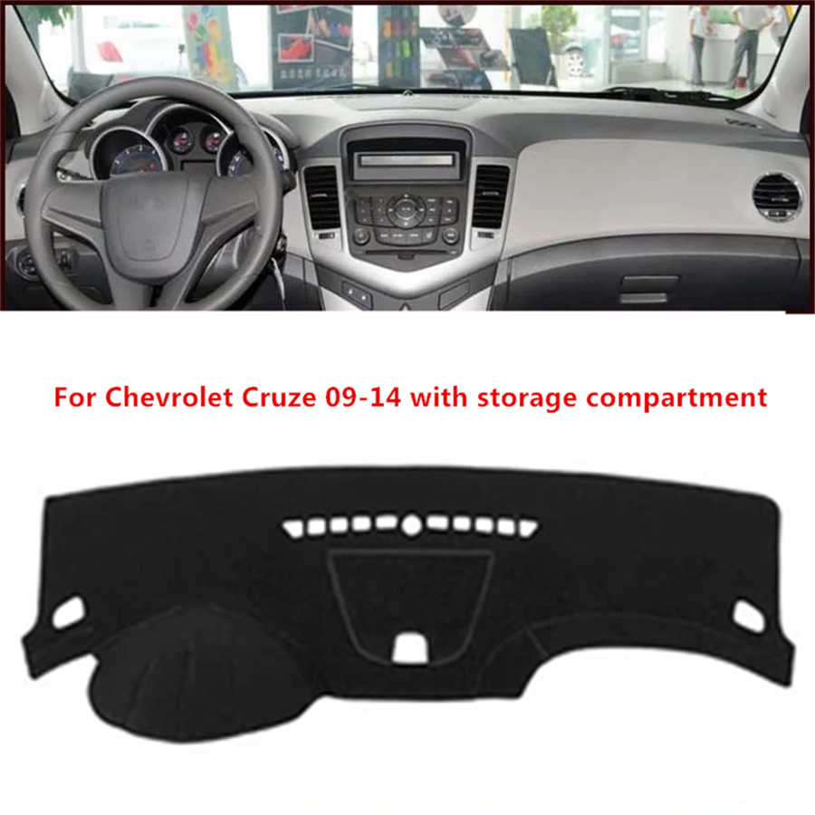 SJ Car Inner Auto Dashboard Cover Dashmat Pad Carpet Sun Shade Dash Board Cover For Chevrolet Cruze With Storage Box 2009-2014