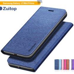 Caso de telefone de couro do plutônio para samsung galaxy j1 mini prime flip book caso para samsung galaxy v2 caso carteira de silicone macio capa traseira