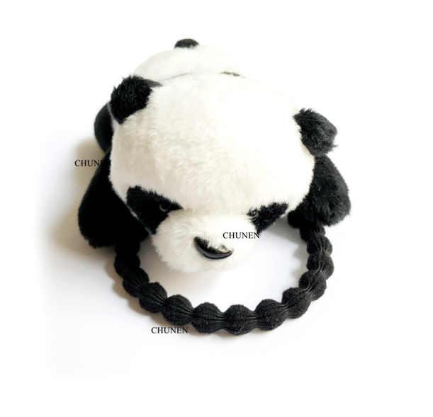 פנדה עיצובים, חמוד 4-9CM פנדה ממולא בעלי החיים בפלאש צעצועים, מתנת שיער עניבה בנד בפלאש צעצועים