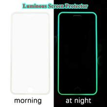 Świecące świecące ochraniacze ekranu szkło hartowane dla IPhone 12 11 Pro Max Mini 7 8 Plus XR X XS SE 2020 szkło ochronne