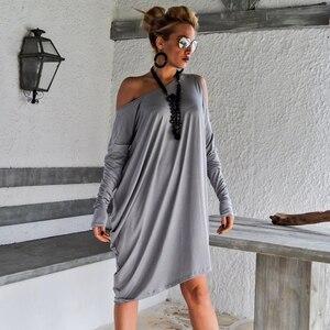 Dress Women Sexy Off The Shoulder Long Sleeve Casual Loose Dress Beach Dress Female Vestidos 5Xl Plus Size