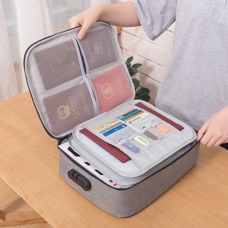 Большой Вместительный органайзер для документов, сумка для путешествий, сумка для ID, кредитная карта, кошелек, держатель для денег, органайзер, чехол, аксессуары для коробки|Портфели|   | АлиЭкспресс