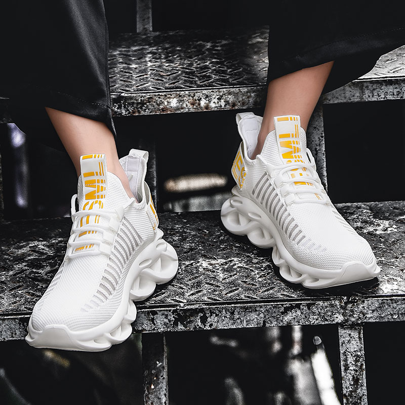 Rommedal – Baskets de course légères pour homme, chaussures respirantes et à lacets, résistantes aux chocs, augmentant la hauteur, de gymnastique et marche