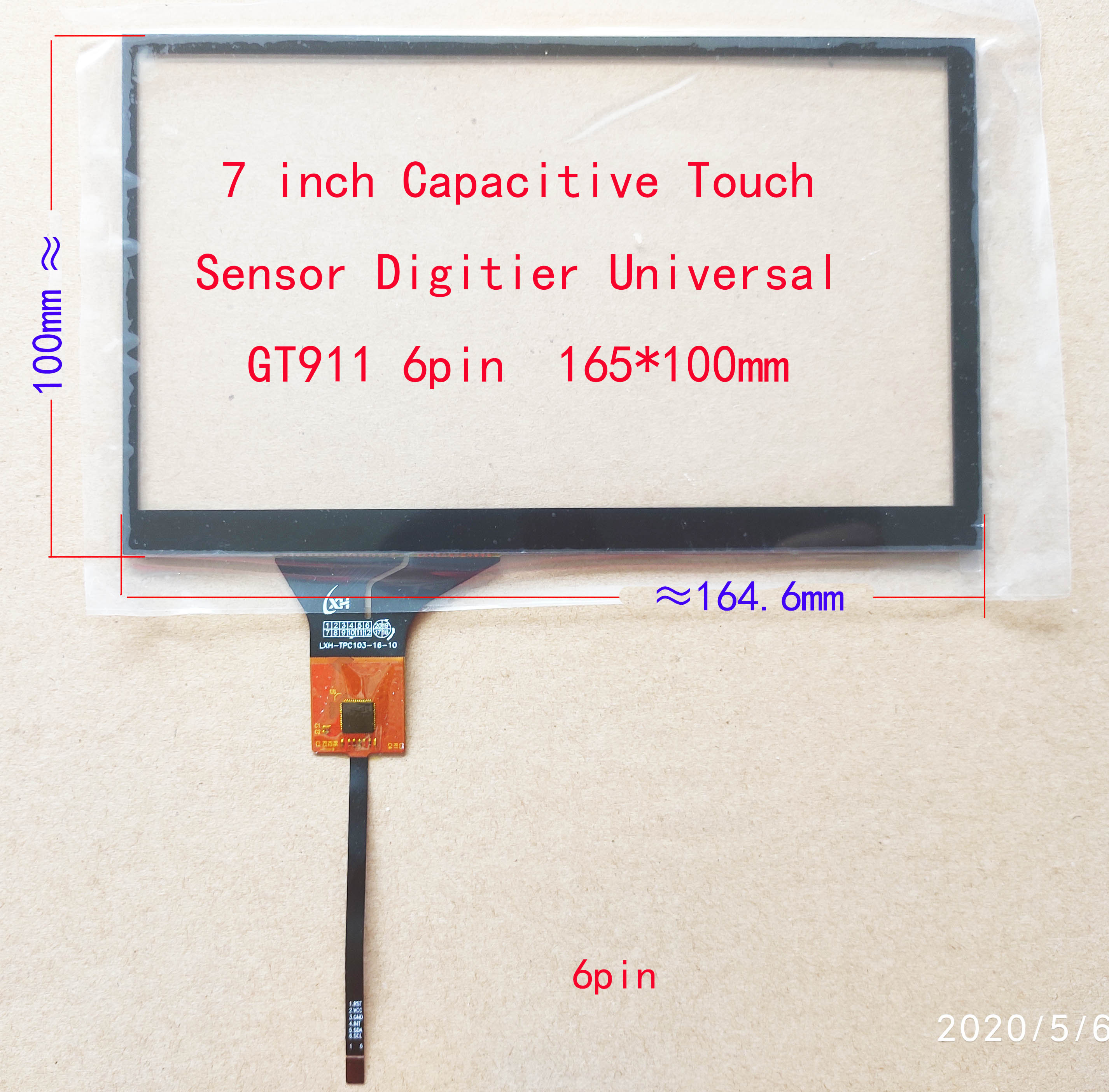 lowest price 6 2 6 5 7 8 9 10 1 10 2 Inch Car Radio Touch Screen 6Pin GT911 Universal Touch panel USB Controller Board Sensor digitizer