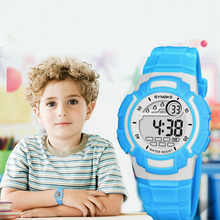 SYNOKE Blue Kids Watches Sport 30M Waterproof Electronic Wri