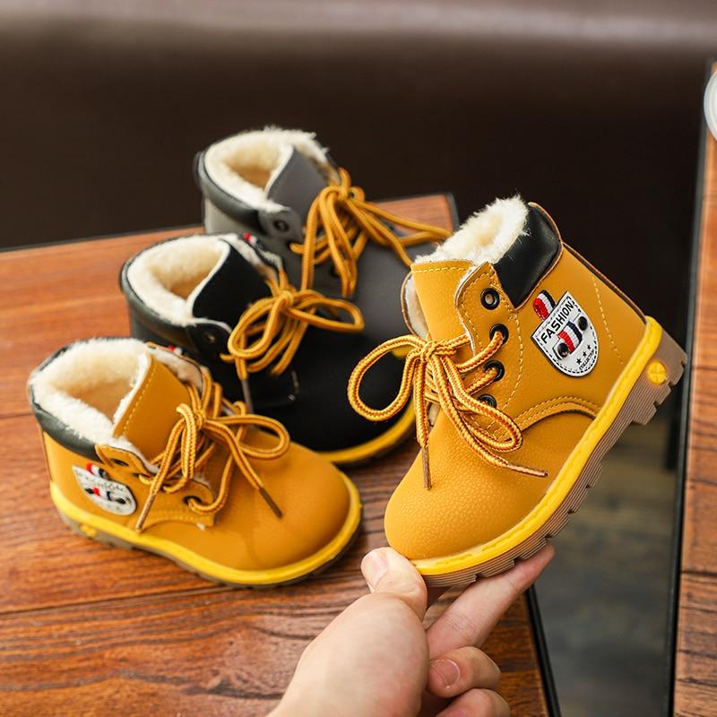 Toddler Baby Girls Boys Winter Snow Boots Shoes Children Warm Sneaker Kids
