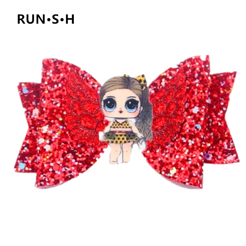 1Pcs Baby Sequins Lol Bow Hair Clips Beautiful Princess Hair DIY Mickey Hair Accessories Angel Wing Hair Accessories Barrettes