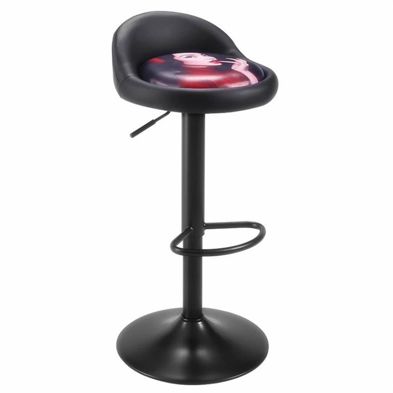 Simple Bar Chair Can Be Raised And Lowered Rotating Front Desk Fashion High Stool Cosmetics Counter Bar Chair Mall Bar Stool