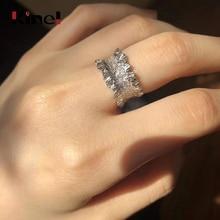 цена на Kinel 925 Sterling Silver Ring Korea Irregular Handmade Ring Ladies Adjustable Free Size Fine Jewelry