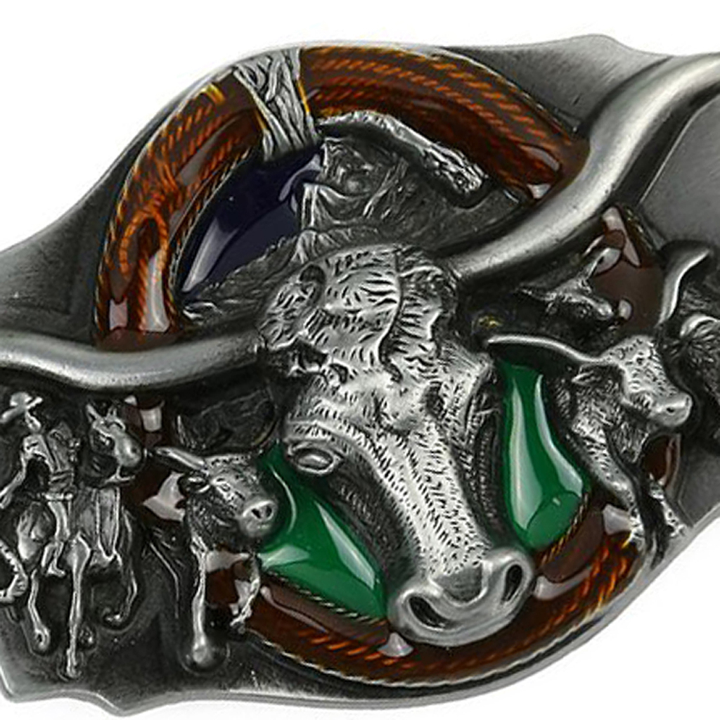 Long Horn Bull Rodeo Western Cowboy Belt Buckle Accessories For Men Women