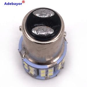 Adebayor100pcs 1157 3020 SMD 50 Led Car Light BAY15D P21/5W Auto Brake Light Bulb Lamps Xenon for ford Car Styling White