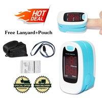 20 pcs Wholesales CMS50M LED Finger Pulse Oximeter,Blood Oxygen Monitor,Sky blue,SPO2,PR Monitor