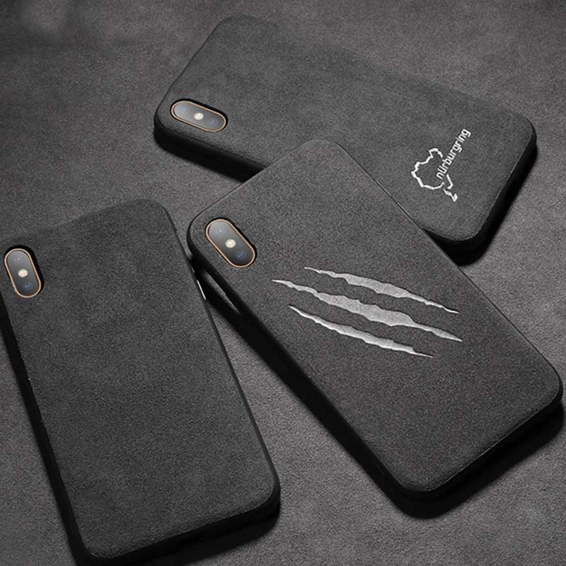 Luxury Nurburgring Sport Car <font><b>Logo</b></font> <font><b>Case</b></font> for <font><b>iPhone</b></font> 11 Pro Max Xs XR 7 7Plus 8 8Plus <font><b>6s</b></font> Plus Coque <font><b>Silicon</b></font> GTR Leather Phone Cover image