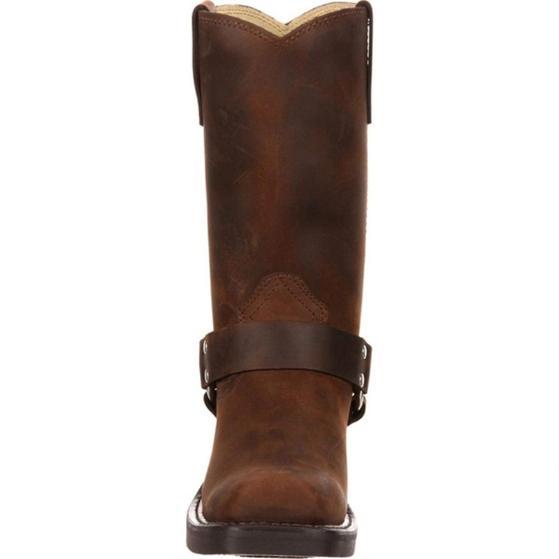 Woman Knee High Boots Combat Vintage Leather Boots Rider Horse Boot (6)