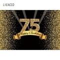 Laeacco 75-й День Рождения фотография фоны полосы блестки точки Фото фоны индивидуальный Фотофон виниловый Фотофон