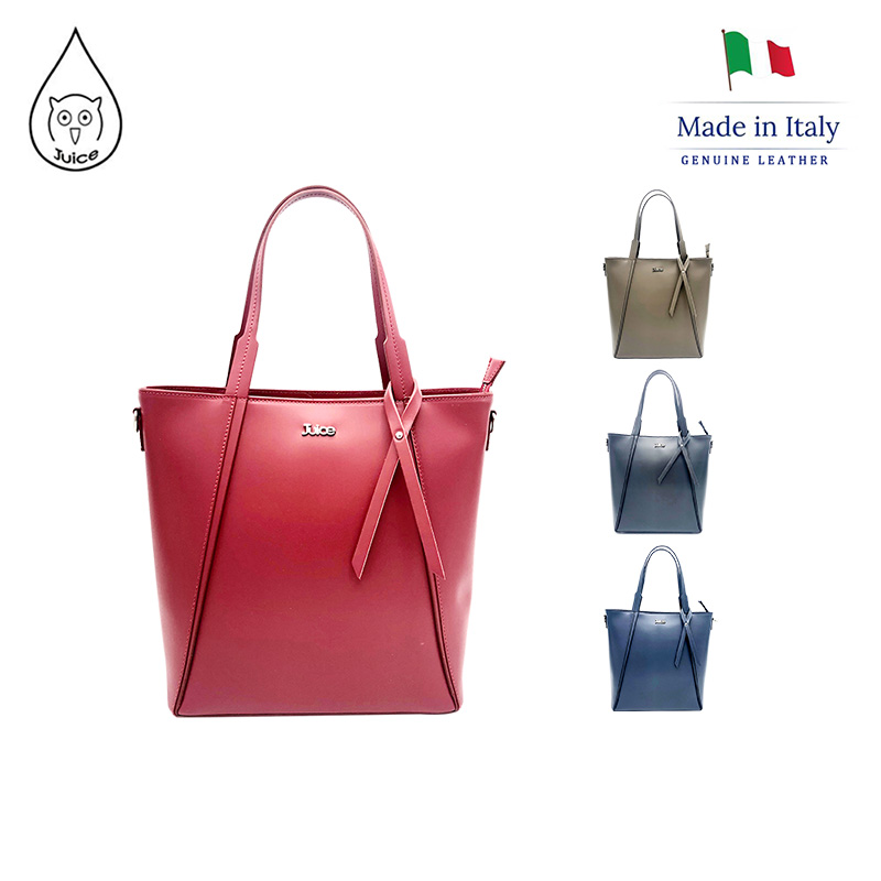 JUICE ,made In Italy, Genuine Leather, Women Bag,handbag/handbag,addition Long Shoulder Strap 112066