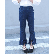 Children Slim Jeans Girls Fashion Jeans Casual Blue Pants Girls Pencil Pants Denim Pants Trousers 1-14 Years Bow Jeans girls jeans small pants 2018 new children s korean version self cultivation fashion broken holes pencil pants