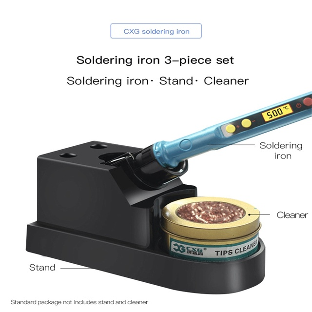 CXG D60W electric soldering iron with sleep function D90W D110WL LCD digital backlit display is rapidly heating up