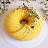 SHENHONG incroyable 6 trous tourbillonnant gâteau Moule pour la cuisson Dessert Art Mousse Silicone 3D Moule Silicone Silicone Moule pâtisserie