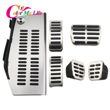 LHD Car Pedals for Volkswagen Polo Vw Golf 4 Bora Beetle RSi GTI R32 for Audi A3 SEAT Leon 1M Toledo 1L Pad Foot Rest Pedal CA