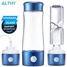ALTHY-botella generadora de agua rica en hidrógeno, copa de vidrio DuPont SPE + PEM, cámara Dual H2, electrólisis ionizador